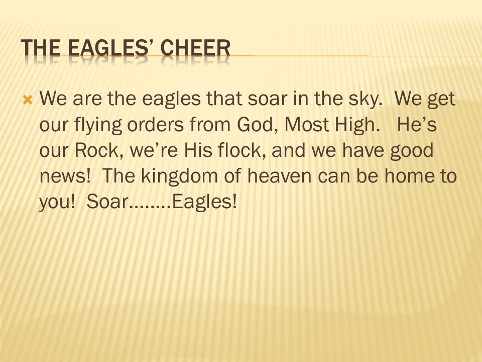 The eagles' cheer