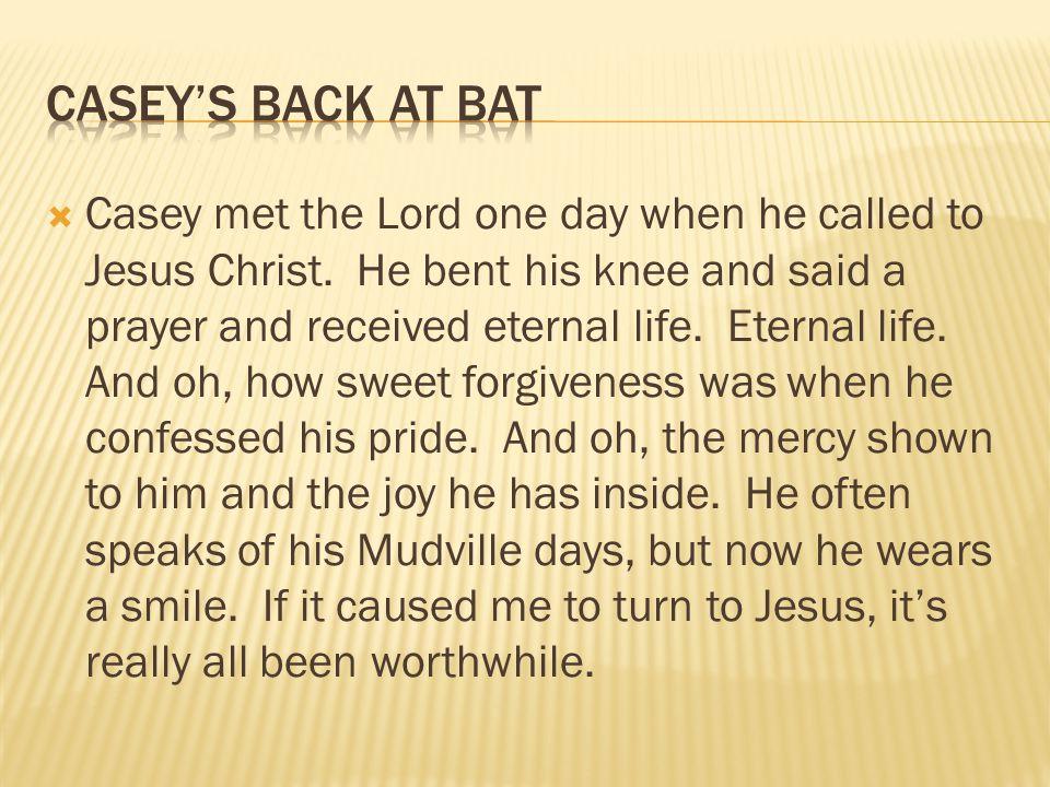 Casey's Back at bat