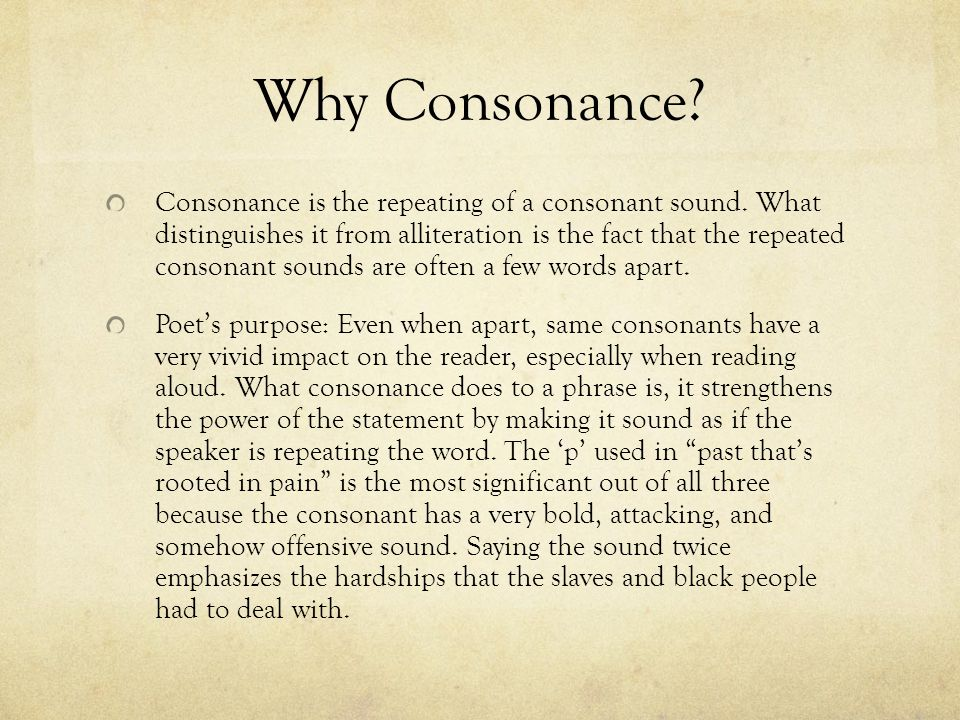 Why Consonance