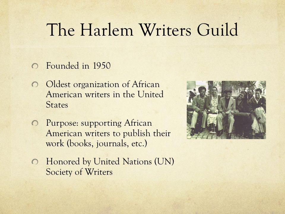 The Harlem Writers Guild