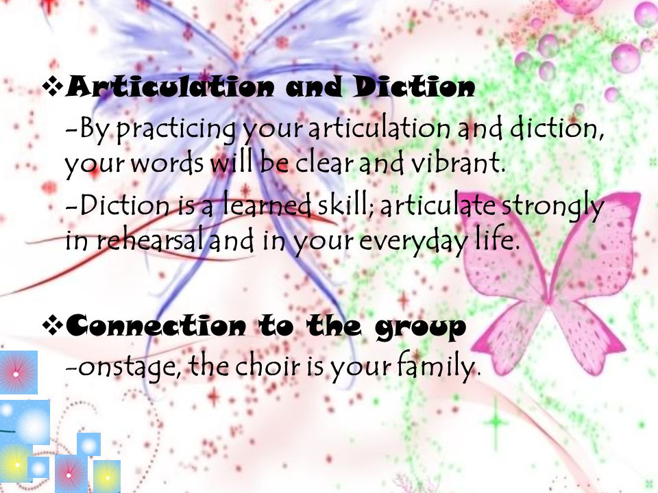 Articulation and Diction