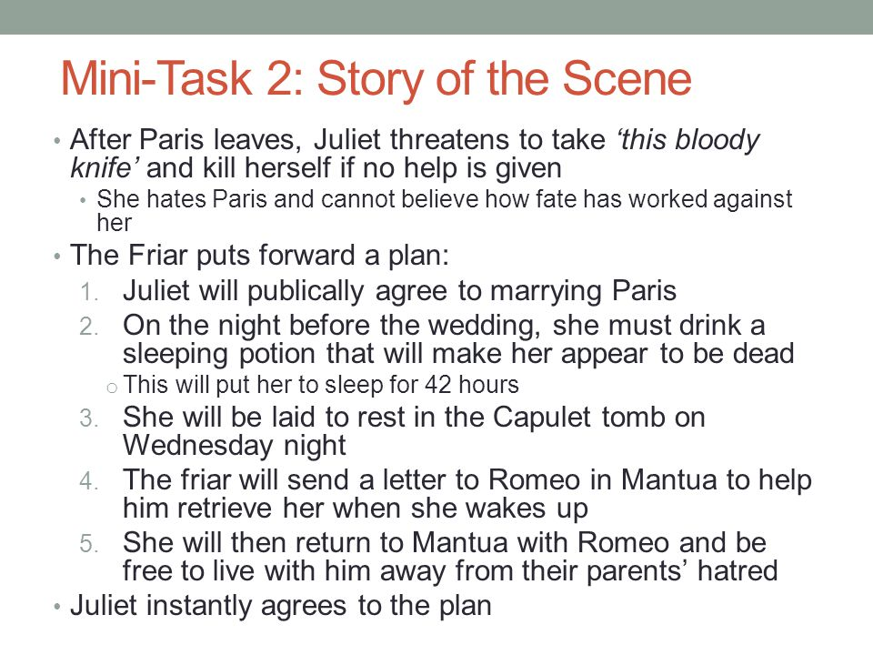 Mini-Task 2: Story of the Scene