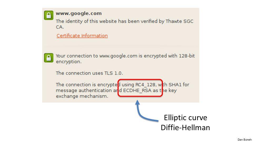 Elliptic curve Diffie-Hellman