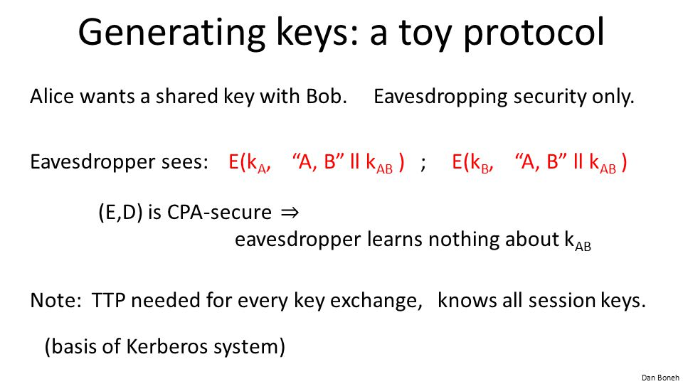 Generating keys: a toy protocol