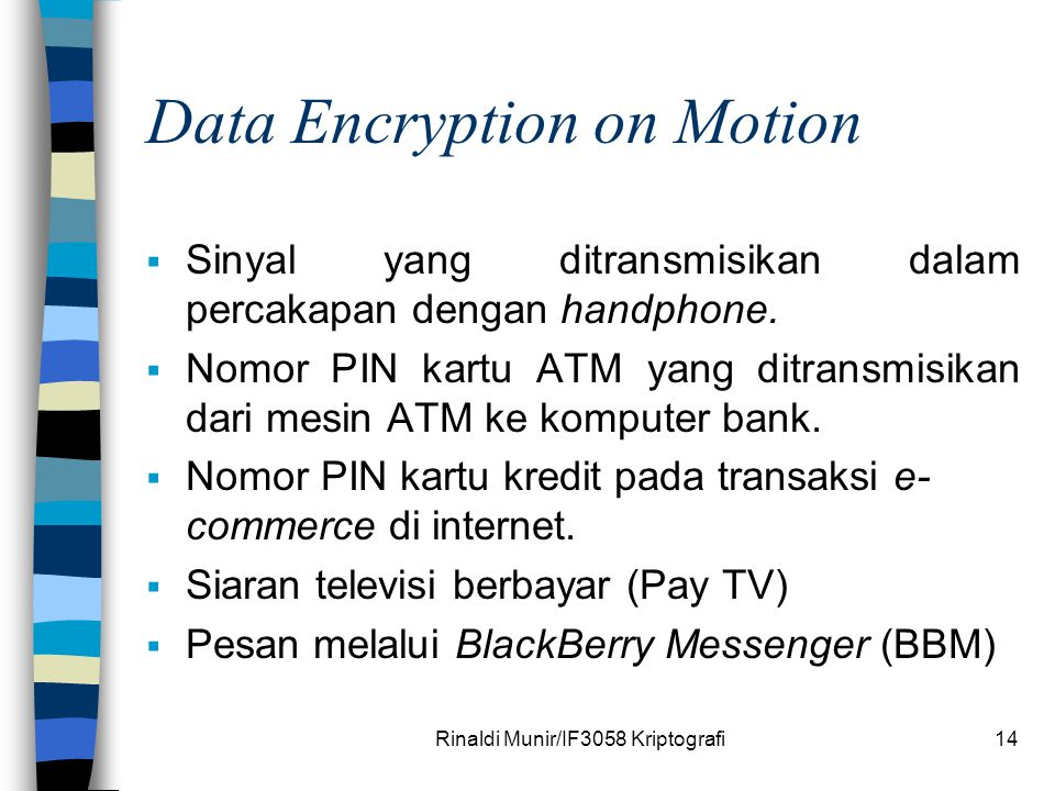 Data Encryption on Motion