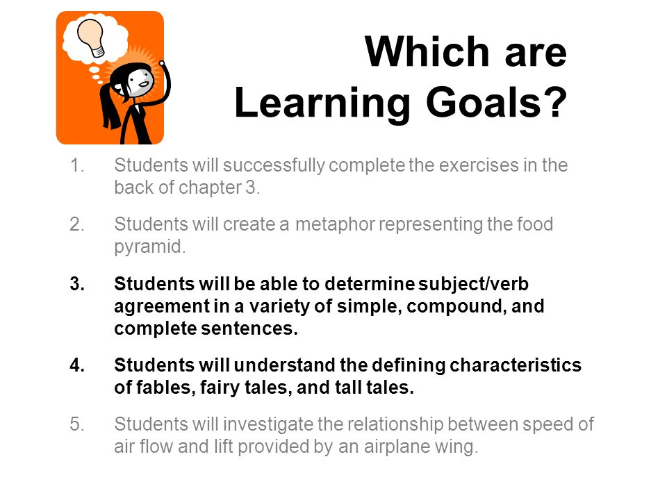 Which are Learning Goals
