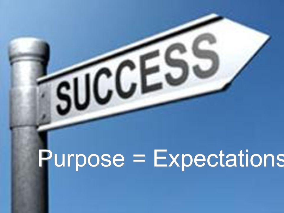 Purpose = Expectations