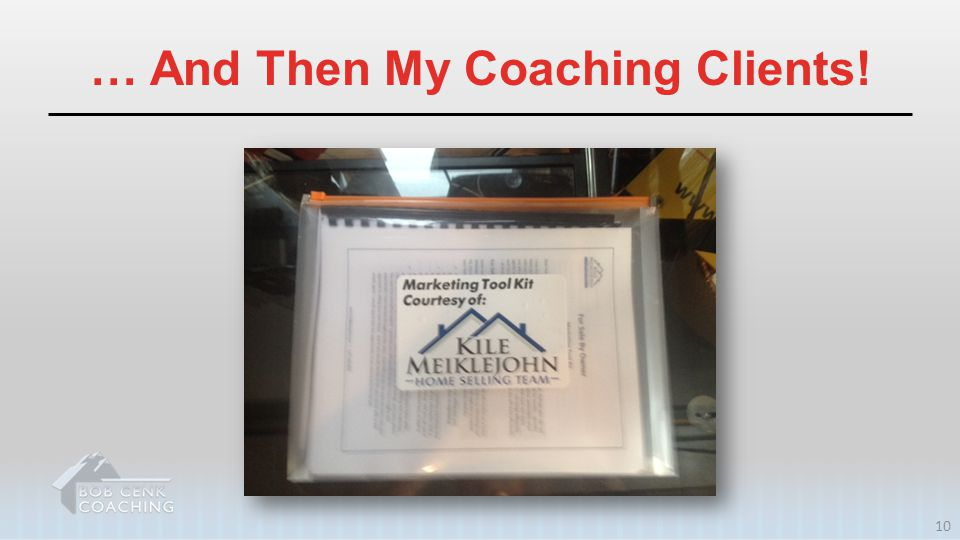 … And Then My Coaching Clients!