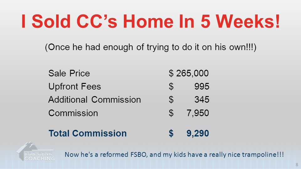 I Sold CC's Home In 5 Weeks!