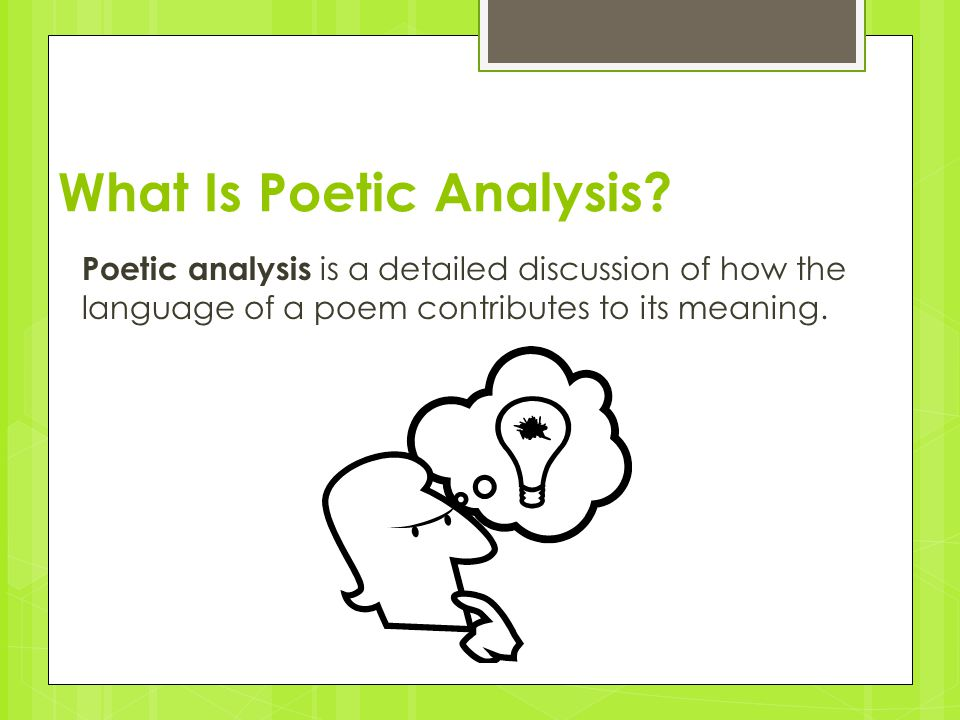 What Is Poetic Analysis