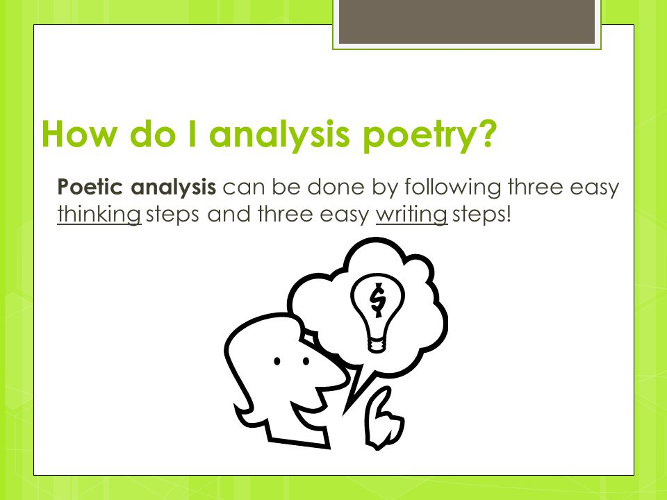 How do I analysis poetry