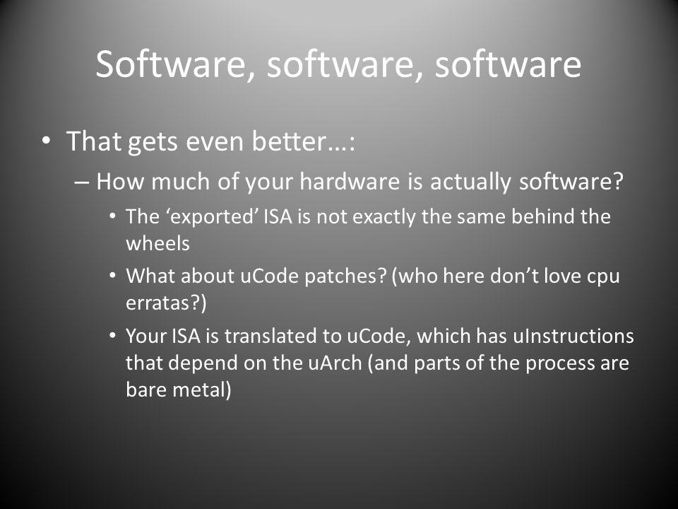 Software, software, software