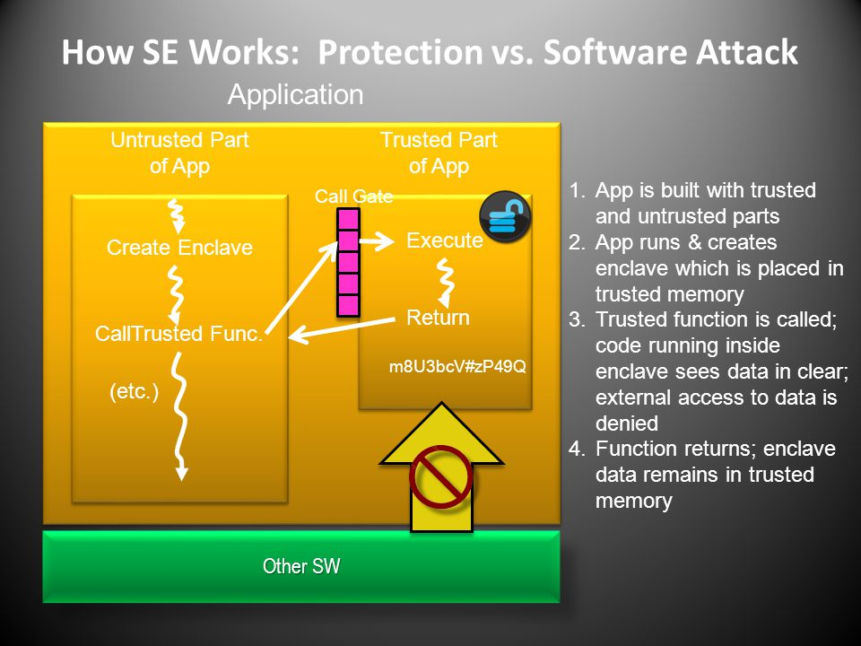 How SE Works: Protection vs. Software Attack