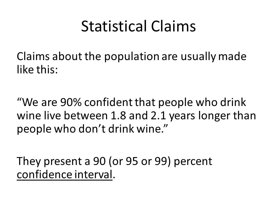 Statistical Claims
