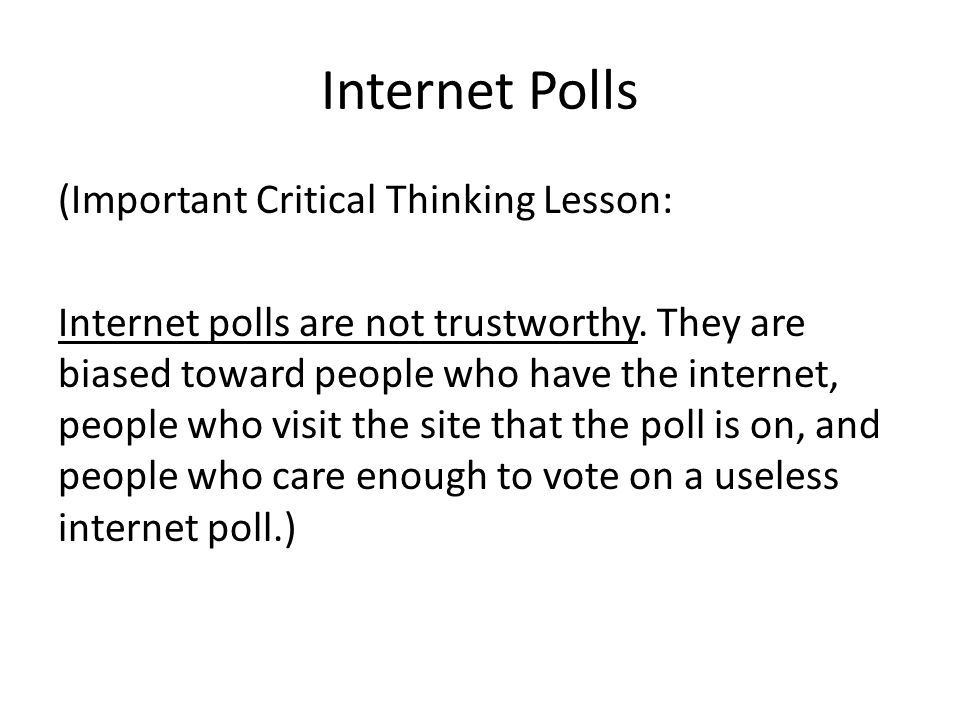 Internet Polls