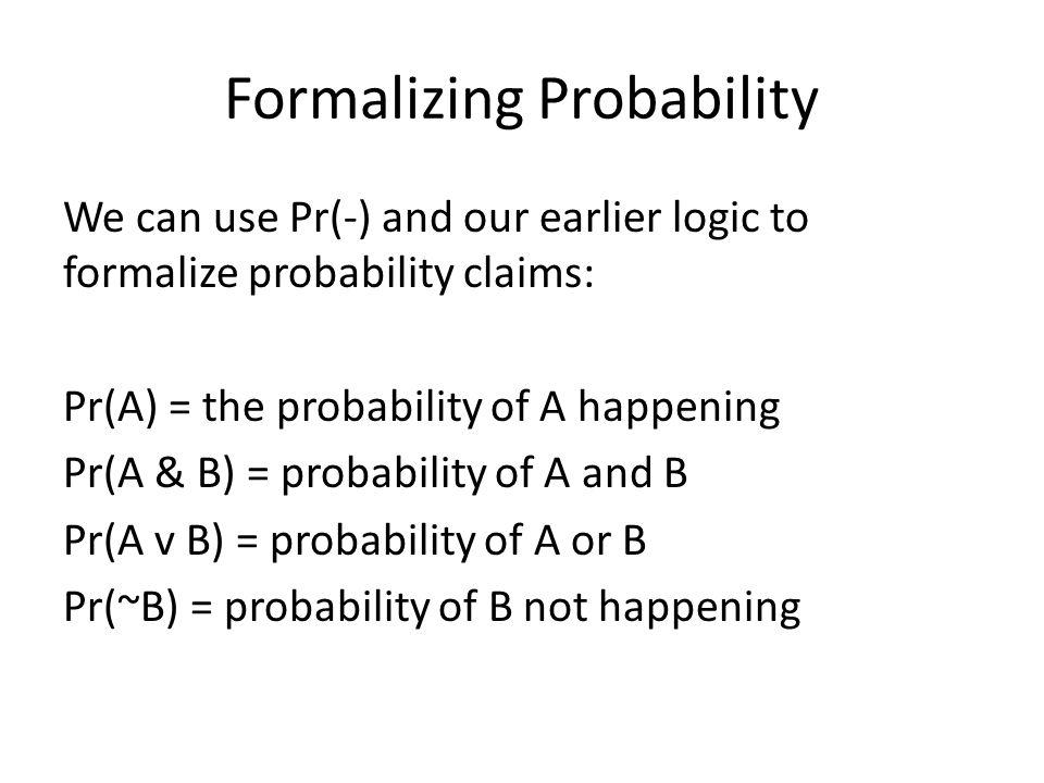 Formalizing Probability