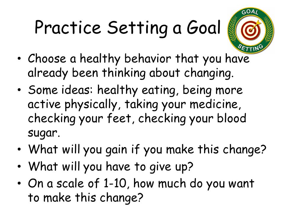 Practice Setting a Goal