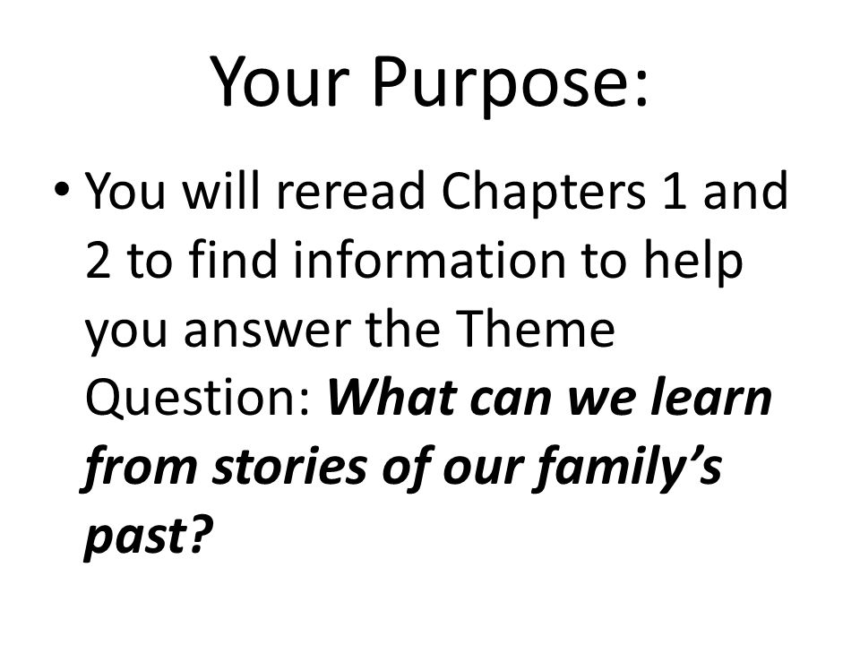 Your Purpose: