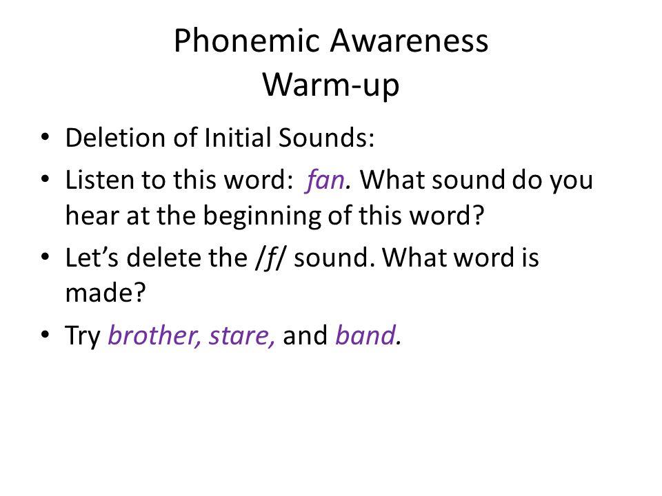 Phonemic Awareness Warm-up