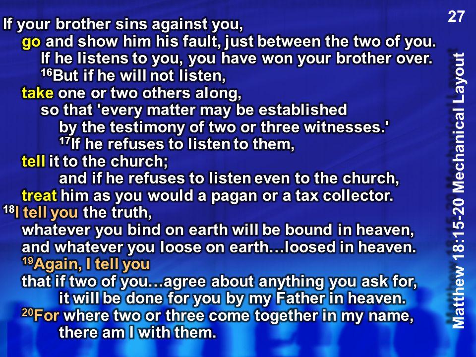 Matthew 18:15-20 Mechanical Layout