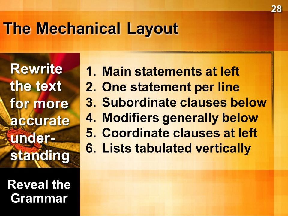 The Mechanical Layout Rewrite the text for more accurateunder-standing