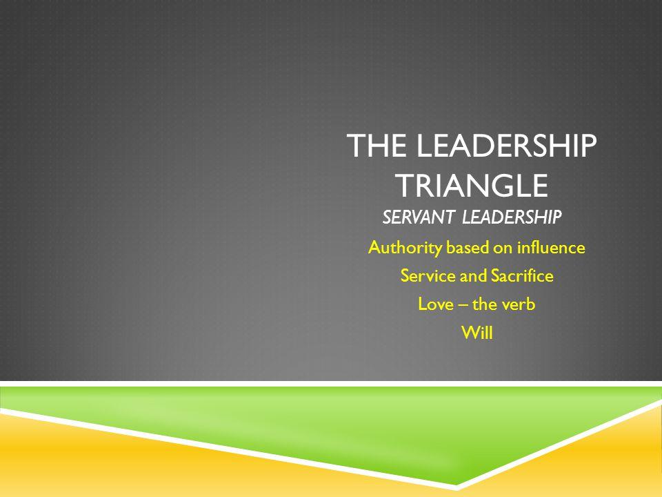 The Leadership Triangle servant leadership