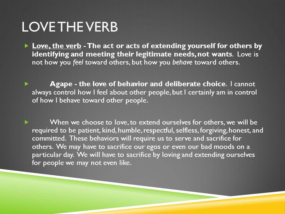 Love the verb