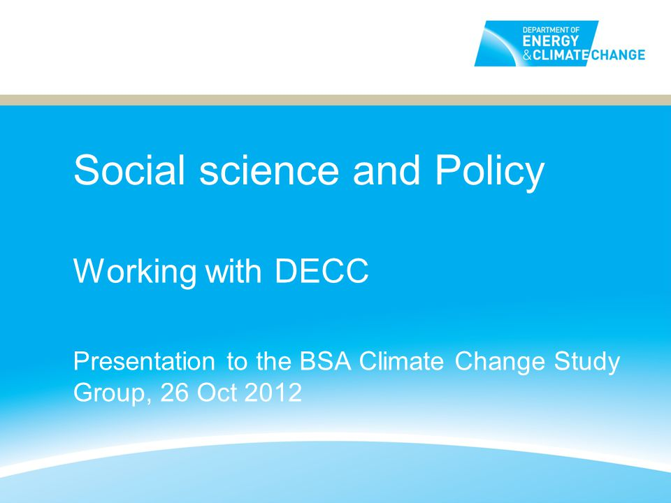 Social science and Policy