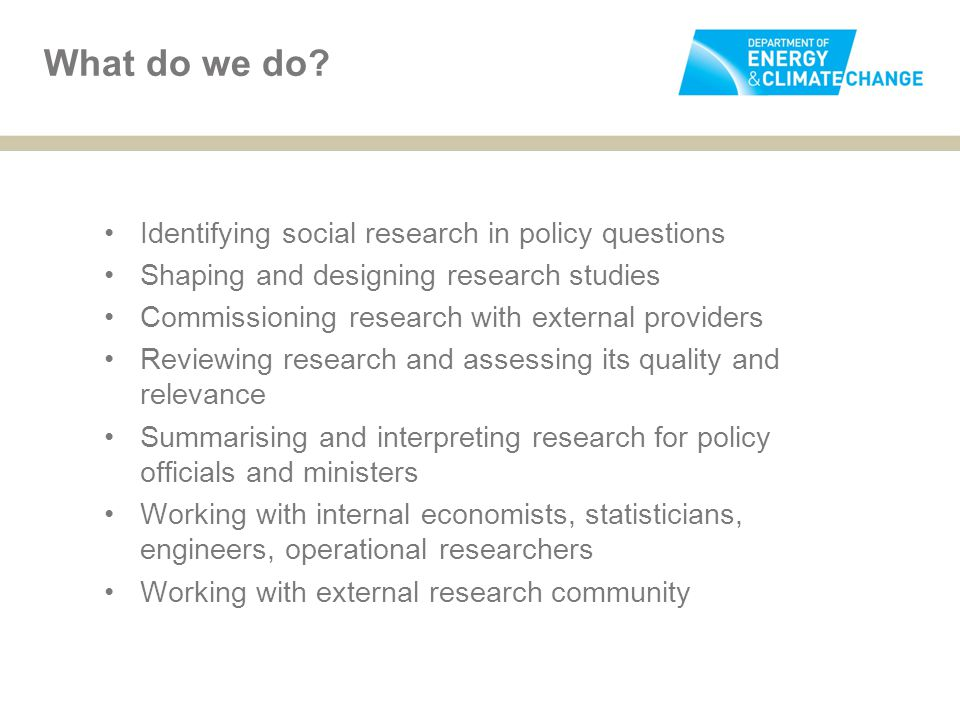 What do we do Identifying social research in policy questions