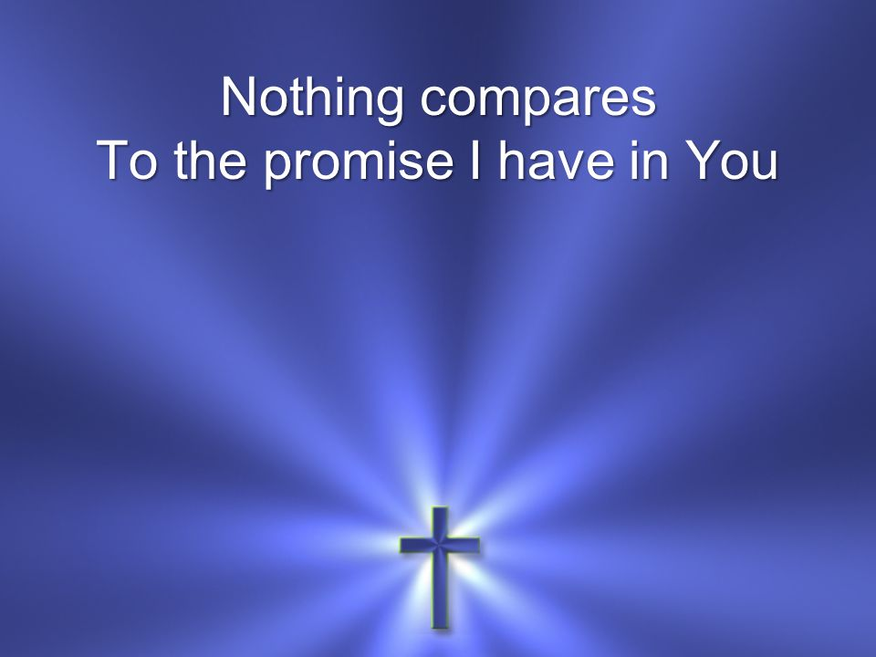 Nothing compares To the promise I have in You