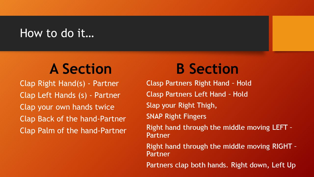 A Section B Section How to do it…