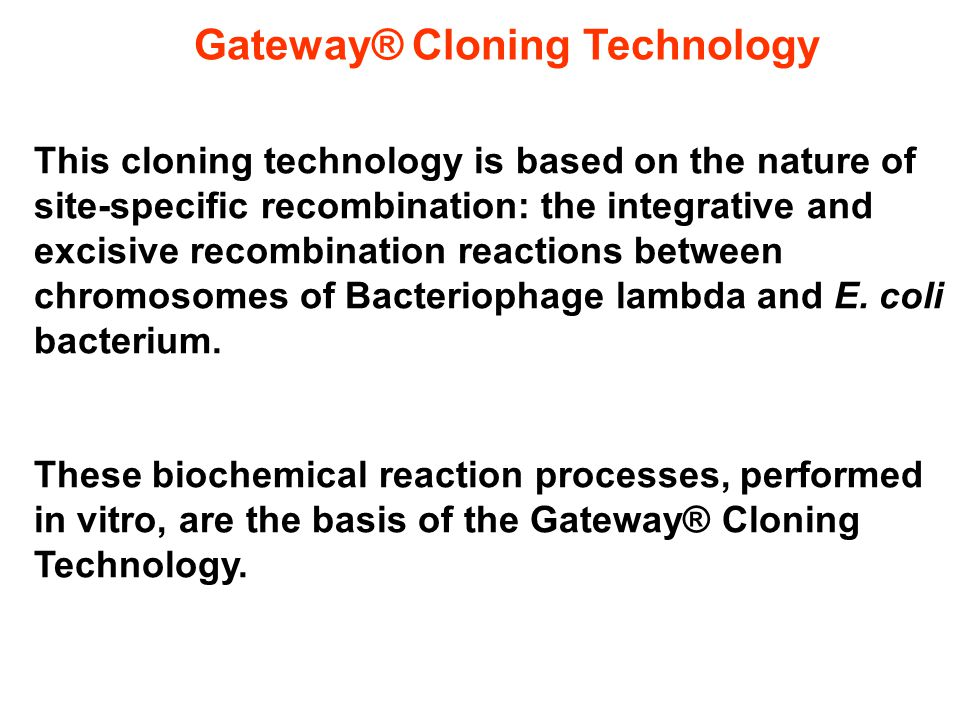Gateway® Cloning Technology