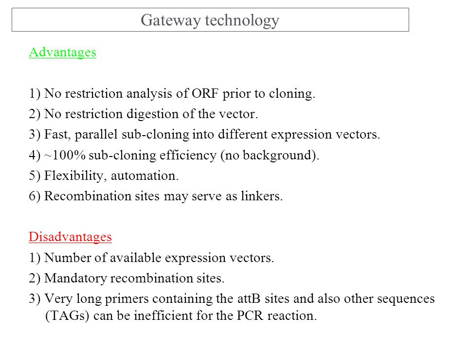 Gateway technology Advantages