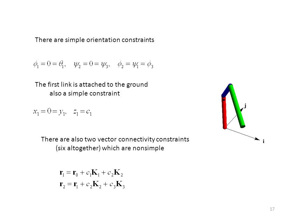 There are simple orientation constraints