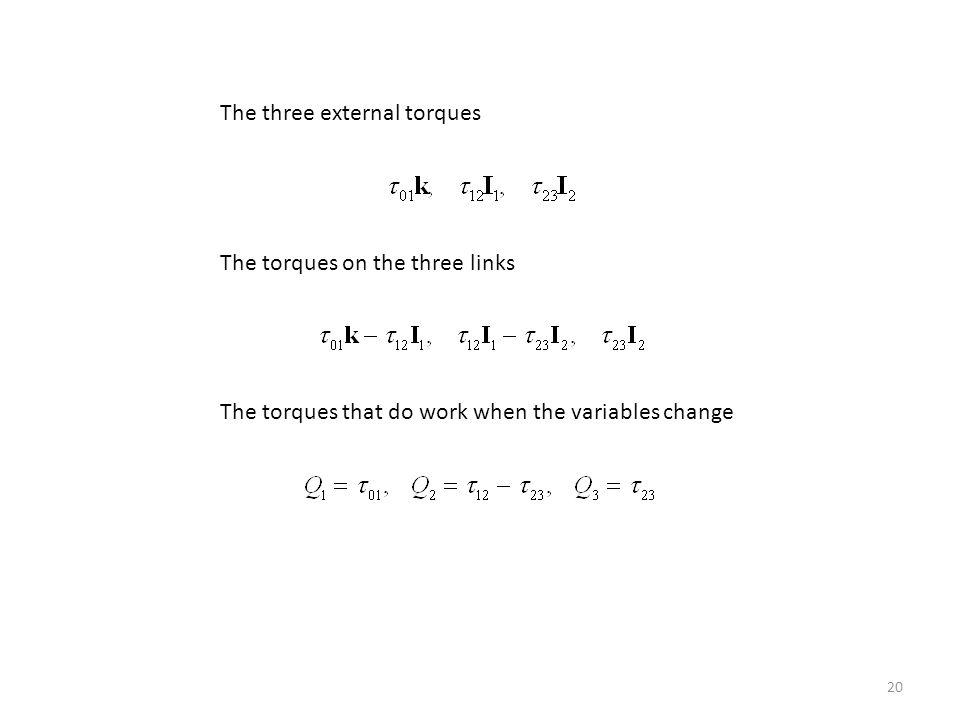 The three external torques