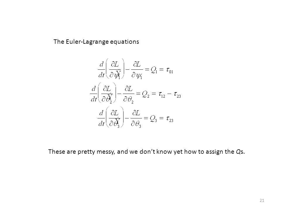 The Euler-Lagrange equations
