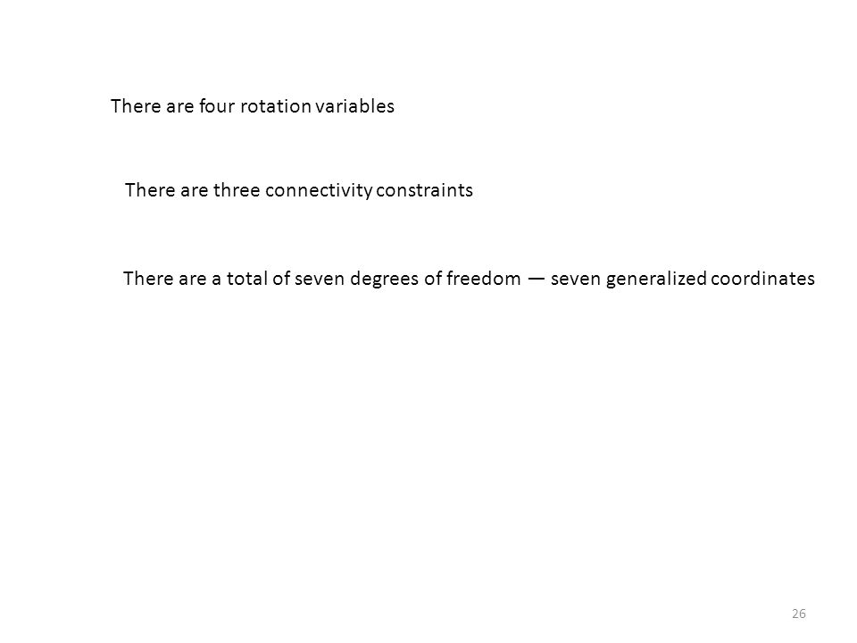 There are four rotation variables