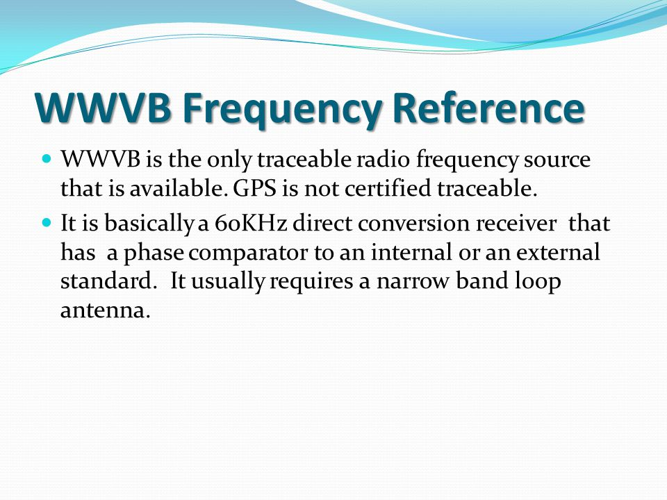 WWVB Frequency Reference