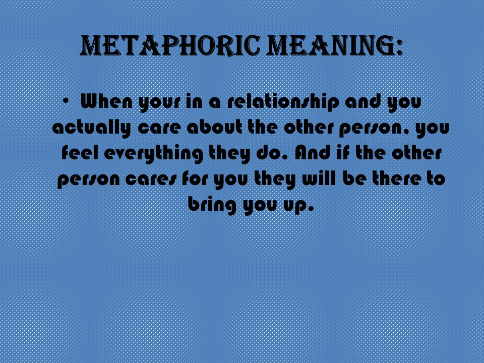 Metaphoric Meaning: