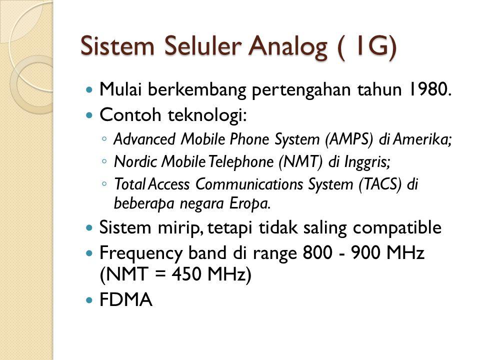 Sistem Seluler Analog ( 1G)