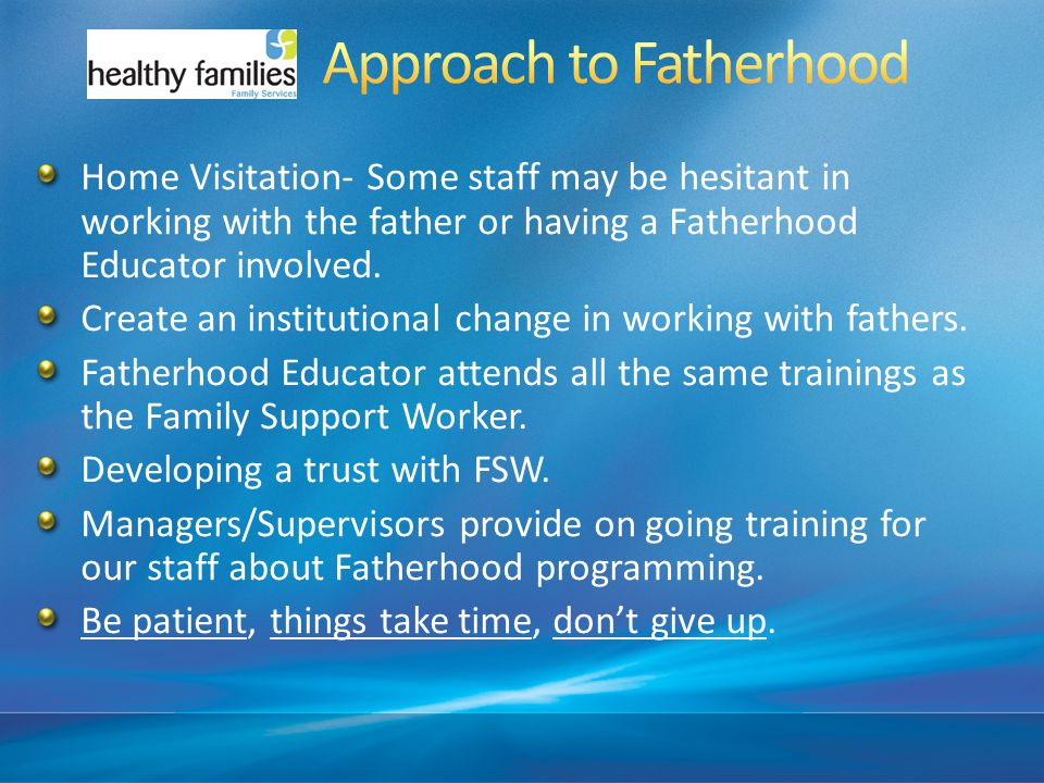A Approach to Fatherhood