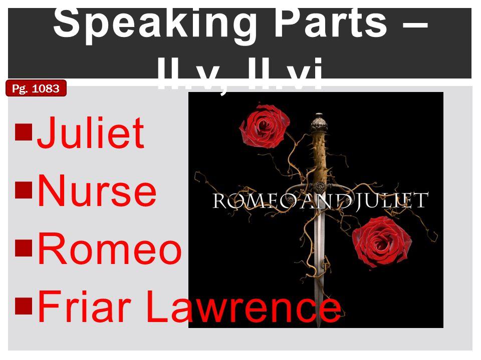 Speaking Parts – II.v, II.vi