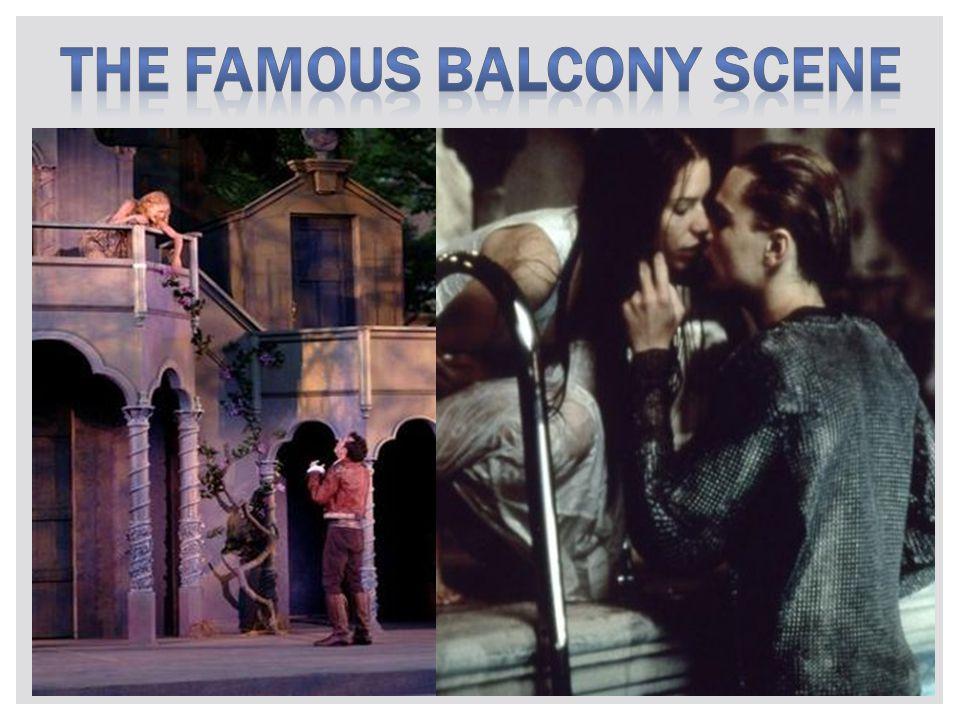 The famous balcony scene