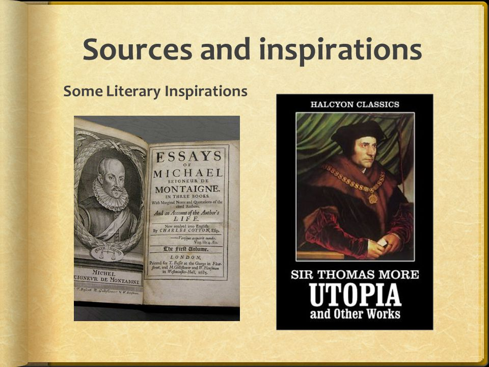 Sources and inspirations