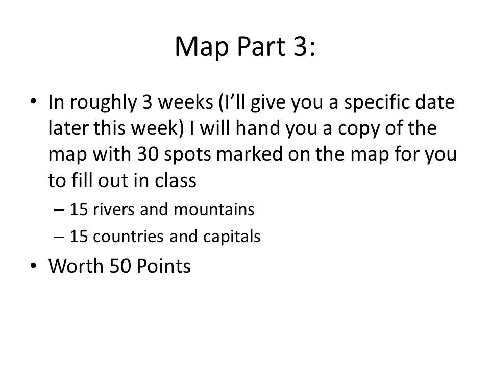Map Part 3:
