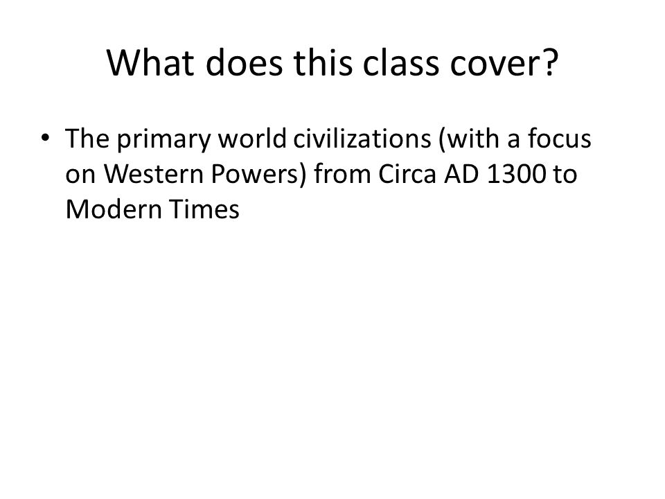 What does this class cover