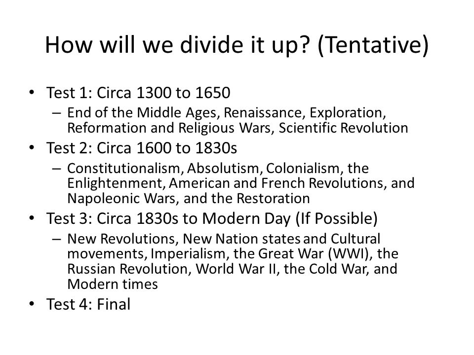 Possible wwi essay questions