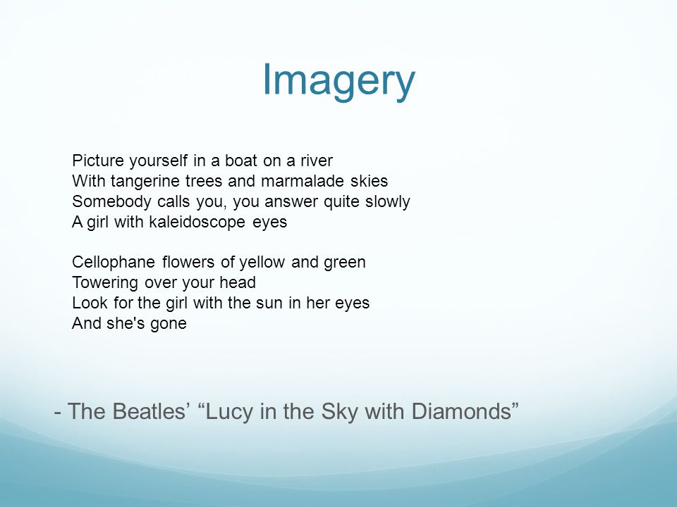 Imagery - The Beatles' Lucy in the Sky with Diamonds