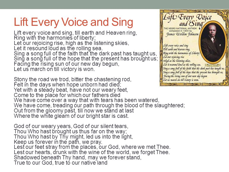 Lift Every Voice and Sing