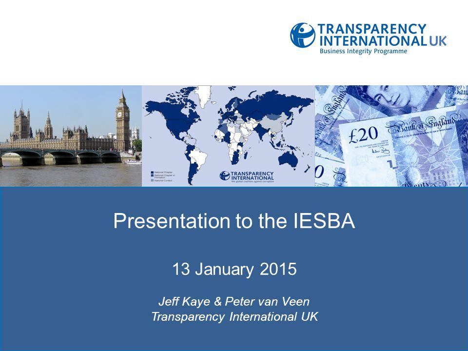 Presentation to the IESBA